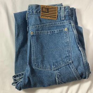 vintage 90s baggy cargo jeans super high waisted